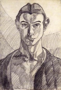 Self Portrait,1912 by Henri Gaudier-Brzeska (French,1891-1915)