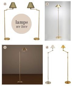 mini metal standing lamps | Good Bones Great Pieces