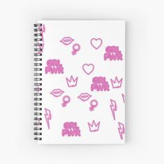 'Girl power, Independent Beautiful Strong Women' Spiral Notebook by Notebook Design, My Notebook, Free Stickers, Sticker Paper, Strong Women, Girl Power, Spiral, My Arts, Art Prints