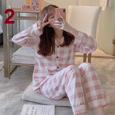 Korean Fashion Dress, Korea Fashion, Korean Outfits, Fashion Outfits, Fashion Women, Cute Pajama Sets, Cute Pajamas, Pajamas Women, Cute Sleepwear