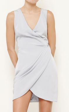 Christian Cota Grey Dress   VAUNTE