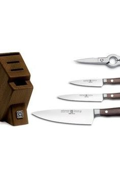 Wusthof-Ikon-Blackwood-5-Piece-Studio-Knife-and-Walnut-Block-Set-0