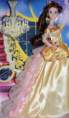 Crystal Dreams Belle Doll is a beautiful Disney Princess Doll by Brass Key, porcelain and rare from years ago. Disney Barbie Dolls, Disney Princess Dolls, Barbie I, Barbie And Ken, Disney Princesses, Disney Necklace, Belle And Beast, Disney Animation