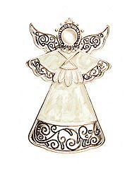 Kim Rogers® Pin - Holiday Angel