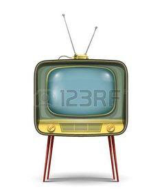 tv vintage: ilustración retro set tv aislados sobre fondo blanco. Los objetos transparentes y las máscaras de opacidad para las sombras y las luces de dibujo