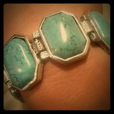 Turquoise & silver belt buckle bracelet Very nice. Looks like a belt with buckle. Turquoise and silver. Jewelry Bracelets