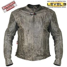Medium Xelement B7496 Bandit Mens Retro Brown Advanced Level-3 Distressed Buffalo Leather Motorcycle Jacket