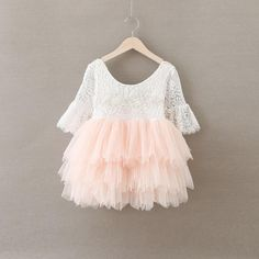 The most stunning baby/toddler dress! Lace top with bell sleeves, with layered blush layered tutu dress. It makes the perfect flower girl dress weddings! Flower Girls, White Flower Girl Dresses, Girls Dresses, Girls Easter Dresses, Baby Flower, Tutu Dresses, Baby Dresses, Summer Dresses, Robes Tutu