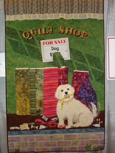 How Much Is That Doggie in the Window by Linda Ruess Benson.  2006 Lancaster (PA)  Quilt show photo by The Calico Cat