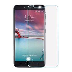 SAUS ZTE Zmax Pro, ZTE Carry Z981 Tempered Glass Screen Protector, Ultra Clear HD Clarity, Bubble Free, 9H Hardness 2.5D Arc Toughened Film- No Full Coverage -- Awesome products selected by Anna Churchill