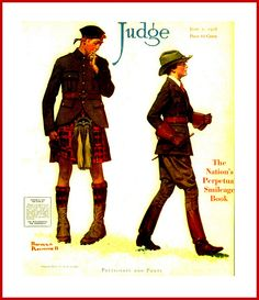 1918,June 1, Cover, - JUDGE   . . .  by Norman Rockwell - 'Petticoats and Pants'