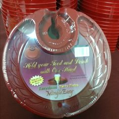 Disposable cocktail party plates love!! Friend got them on MingleEasy.con & plastic wine holder plates for wine tastings   ... Disposable ...
