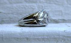 Awesome #Vintage Platinum Leafy Diamond Ring. by #GoldAdore on Etsy, $995.00
