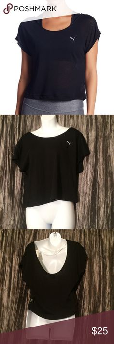 Puma watch me leave top large Puma black large watch me leave top  Length:19 Bust:38 Puma Tops Blouses