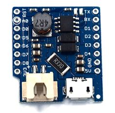 IoT with ESP8266: Battery powered Wemos D1 with Wemos Battery Shield...