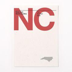 ORANGE & PARK - North Carolina stationery