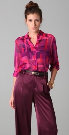 Love the color of this outfit Love anything silky