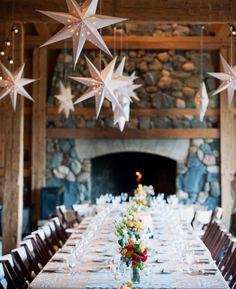 This beautiful reception is so inspiring for a starry night wedding theme. Photo: Brinton Studios | via Starry Night Weddings http://emmalinebride.com/vintage/starry-night-weddings-ideas/