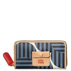 Zip Wallet, Zip Around Wallet, Orla Kiely, Coin Purses, Women Brands, Beautiful Things, Wallets, My Style, Big