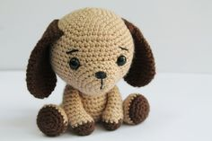 PATTERN : Dog - Puppy - Amigurumi dog pattern - Crochet pattern-Knitted Stuffed animals- doll-toy-baby shower by Anatillea on Etsy https://www.etsy.com/listing/234604627/pattern-dog-puppy-amigurumi-dog-pattern