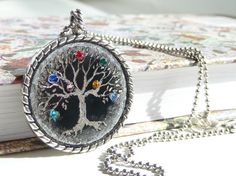 Personalized family tree necklace. Family by CrystalPiece on Etsy, $45.50