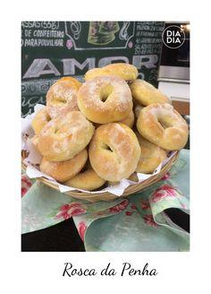 Rosca da Penha Donuts, Cookies, Bagel, Crackers, Doughnut, Bread, Desserts, Food, Sweet Recipes