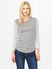 Supersoft colorblock henley