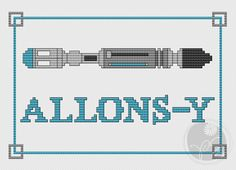 Doctor Who Allonsy Screwdriver  Printable PDF by PixyStitching, $3.50