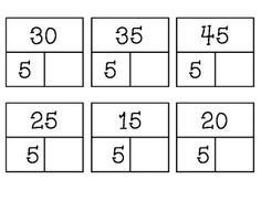 Multiplication fact cards (Missing Factors)