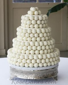 Cake Ball Wedding Cake | http://rosebakes.com