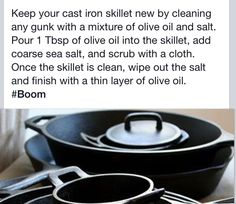 Cast iron cleanser