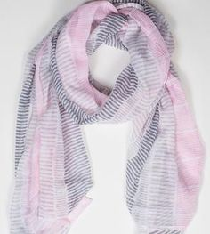 Pink Stripe Summer Scarf