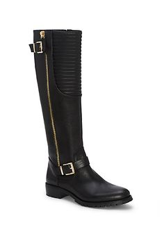 VINCE CAMUTO JAMINA- QUILTED TALL MOTO BOOT