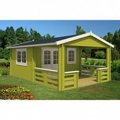 x 18 ft. 10 in. Log Garden House with 12 ft. x 7 ft. Porch-Montana - The Home Depot Storage Shed Plans, Built In Storage, Tool Storage, Firewood Storage, Office Storage, Bird House Kits, Getaway Cabins, Aalborg, Shed Homes