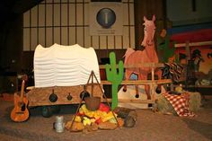 Western Theme Decorations, Dance Decorations, Cowboy Theme Party, Cowboy Birthday Party, Camp Out Vbs, Party Stations, Wild West Theme, Vbs Themes, Bible Study For Kids