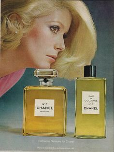 Chanel AD Catherine Deneuve Chanel NO 5 1970'S Original AD  