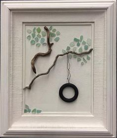 "ORIGINAL ""Childhood"" Tire Swing in 24 x 20 Vintage Frame"