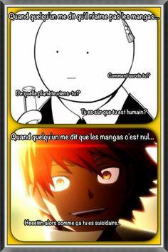 Otaku-Manga News (copy Psalm 46, Assassination Classroom Karma, Manga Anime, Funny Images, Funny Pictures, Chibi, Koro Sensei, Memes, Assasination Classroom