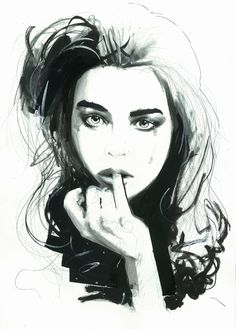 Portraits by Jason Lear, via Behance