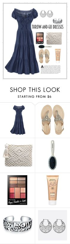 """""""Summer Romance"""" by patricia-dimmick on Polyvore featuring Antik Batik, Revlon, Miracle Skin Transformer, Bling Jewelry, Avenue, DenimDress and easypeasy"""