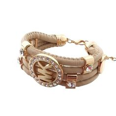 Perfect Michael Kors Skinny Logo Beige Bracelets, Perfect You