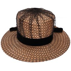Vintage Schiaparelli Paris Hat 1960s Wide Brim Straw w Netting Ladies from poppysvintageclothing on Ruby Lane