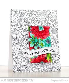 Handmade card from Stephanie Klauck featuring Essential Sentiments stamp set, Bundles of Blossoms Background stamp, and  Blueprints 25 Die-namics #mftstamps