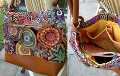 Ewa aus Gobelinstoff mit Lederelementen- genäht von Martina 2016 Messenger Bag, Satchel, Bags, Fashion, Scrappy Quilts, Bags Sewing, Leather, Handbags, Moda