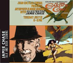If you're in Santa Fe, NM on Tuesday, July 12th, please stop by and see my friend and At The Earth's Core partner in crime, Jamie Chase at the Jean Cocteau Cinema for a gallery of his work. It's sure to be a fun night and a must for fans of Edgar Rice Burroughs' Pellucidar stories. If you do go, take a lot of photos for me since I can't be there.  http://www.jeancocteaucinema.com/event/jamie-chase-art-exhibition-and-book-event/