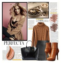 """""""Fall coffee"""" by claud-637 ❤ liked on Polyvore featuring NARS Cosmetics, Topshop, Lanvin, MICHAEL Michael Kors and Whiteley"""