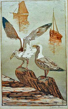 The Linosaurus: Sea gulls and the woodblock (I), Owen Jones