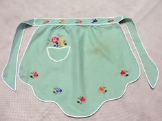 pretty little embroidered apron