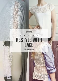Restyle with Lace a roundup by queenlila.com. Click through for more inspiration!