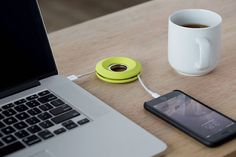 Cableyoyo is an earbud cord spool with a magnetic center to keep earphones tidy and tangle-free while enabling quick winding and unwinding.